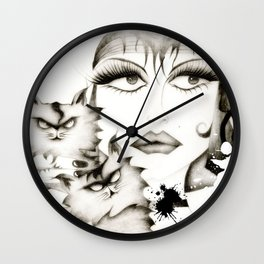 Glamour woman! Wall Clock