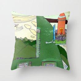 Futuristic Airport Throw Pillow