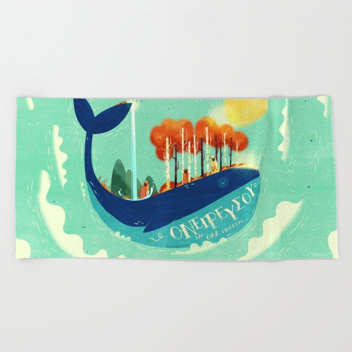 :::Tall Tree Whale::: Beach Towel