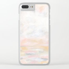 Ecstatic - Pink and Yellow Pastel Seascape Clear iPhone Case