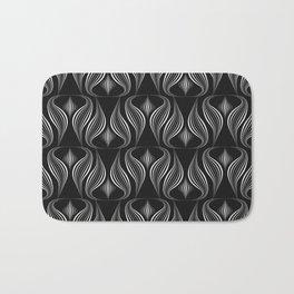 "Art Deco . Black and white pattern ."" Waterfall "". Bath Mat"