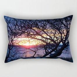 Sunset Through The Plum Bush Rectangular Pillow