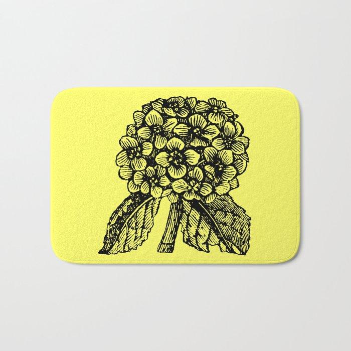 Yellow Hydrangea Bath Mat