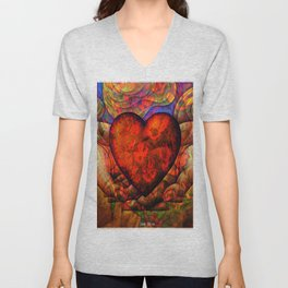 """"""" It is necessary to see in the events the hand of God, without ever forgetting that it is the heart Unisex V-Neck"""