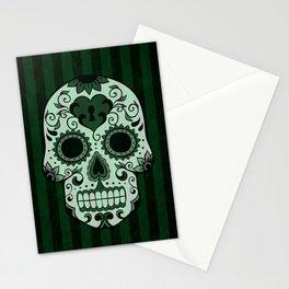 Día de los Muertos in Emerald Green Stationery Cards