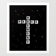 PEACE AND HARMONY CROSS Art Print
