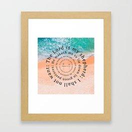 Psalms 23 Framed Art Print
