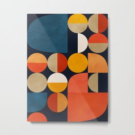 mid century geometric abstract Metal Print