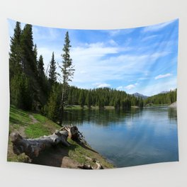 Serene Yellowstone River Wall Tapestry