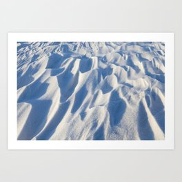 Snowdrifts, the field in winter Art Print