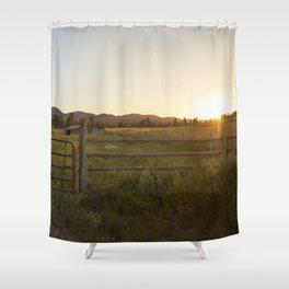 Montana at sunset Shower Curtain