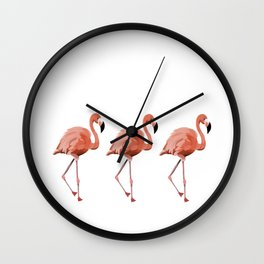 A Flamboyance of Flamingoes - Flamenco - 57 Montgomery Ave Wall Clock