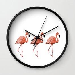 A Flamboyance of Flamingoes - Flamenco - 57 Montgomery Ave Wall Clock