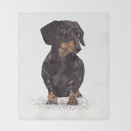 Dog-Dachshund Throw Blanket
