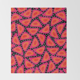 Shapes, Slices and Pips Throw Blanket