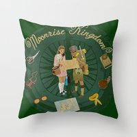 moonrise kingdom Throw Pillows featuring Moonrise Kingdom by KelseyMicaela