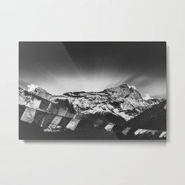 Namché Bazar mountain view in Nepal Metal Print