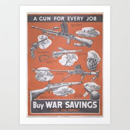 Reprint of British wartime poster. Art Print