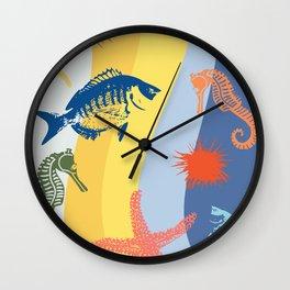 vintage beach theme Wall Clock