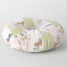 Australian Cattle Dog cheater quilt pattern dog lovers by pet friendly Floor Pillow