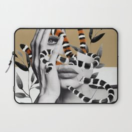 Woman and snakes Laptop Sleeve
