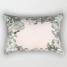 Little bird- merry in the blossoming Rectangular Pillow