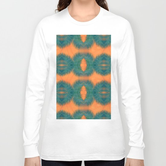 Coral Palm Long Sleeve T-shirt