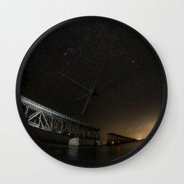 Key West Bridge Wall Clock