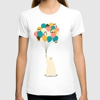 penguin T-shirts featuring Penguin Bouquet by Jay Fleck