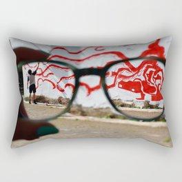 Artist at work Rectangular Pillow