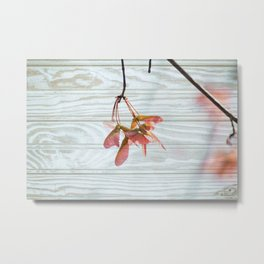 Maple Trees Can Fly Metal Print