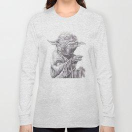 Yoda sketch Long Sleeve T-shirt