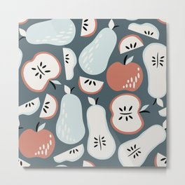 Pears and Apples Metal Print