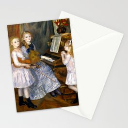 The Daughters Of Catulle Mendes Huguette Claudine And Helyonne - Auguste Renoir Stationery Cards