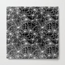 Midnight Cobwebs Metal Print