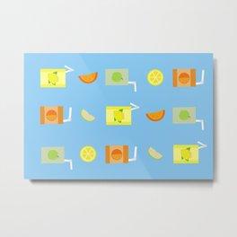 Juice Pattern Metal Print