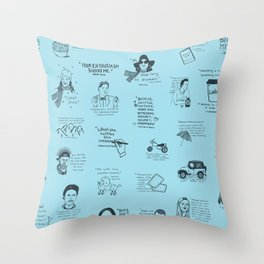 Gilmore Girls Quotes in Blue Throw Pillow