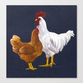 Backyard Chickens Canvas Print