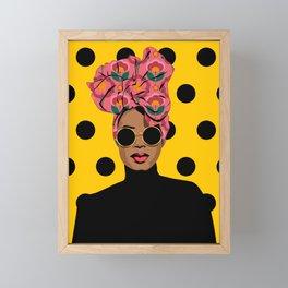 Black Beauty Framed Mini Art Print