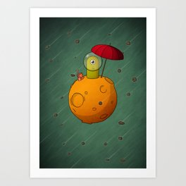 Lonely Planet Art Print