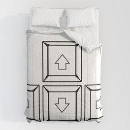 Keyboard Arrows Comforters