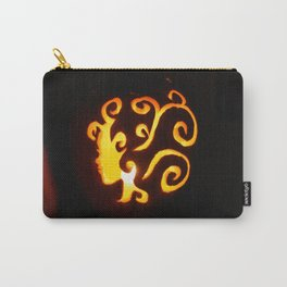 Pretty Lady Carved Pumpkin Carry-All Pouch