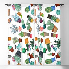 Crazy Cacti Blackout Curtain