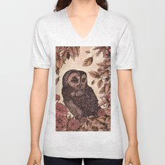 Tawny Owl Pink Unisex V-Neck