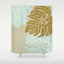 Hawaiian leaves pattern N0 3, Art Print collection, illustration original pop art graphic print Shower Curtain