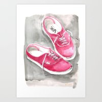 vans Art Prints featuring Vans by Having Here