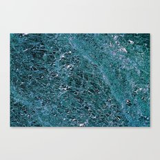 Teal Marble Canvas Print