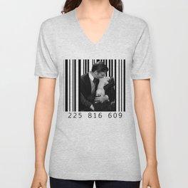 Kiss inside a Barcode Unisex V-Neck
