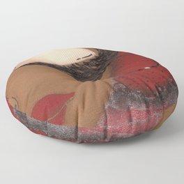 Crimson and Cream Sassy Girl Floor Pillow