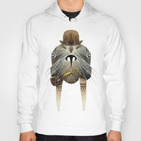 walrus Hoodies featuring walrus by Manoou